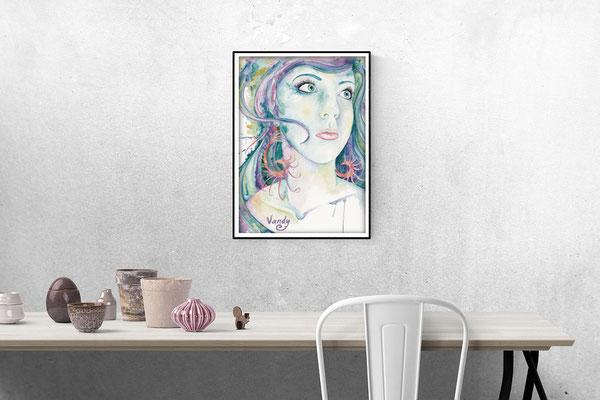 """""""Seashells"""" Aquarelle sur papier, 60 cm X 80 cm"""