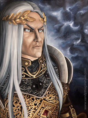 """His Majesty"" ESO Inspired Art, Oil on canvas 80 cm X 100 cm"