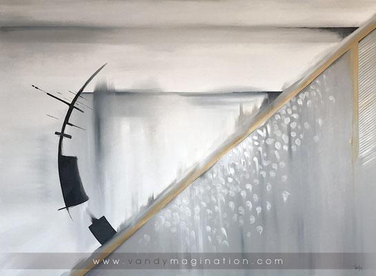 """""""Momentary"""", oil on custom canvas, 160cm x 120cm"""