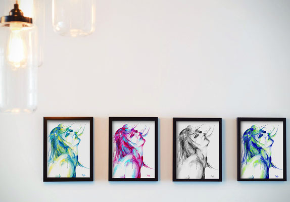 You can order watercolor prints in a variety of colors, as well as black and white.