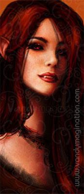 """""""Scarlet"""" Digital Painting"""
