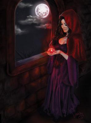 """""""The Crimson Night"""" Peinture digitale, imprimé sur toile, 60 cm X 80 cm"""