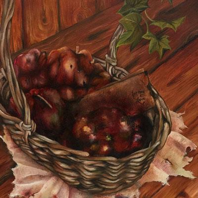 """""""Rotten Apples"""" Huile sur toile, 40 cm X 40 cm"""