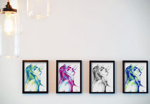 Pourquoi l'aquarelle? Vous pouvez commander des impressions dans une grande variété de couleurs, et même en noir et blanc!