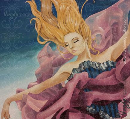 """""""Water Dance"""" Acrylique sur toile 30cm X 30cm"""