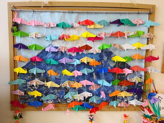 みんなでたくさんの鯉のぼりを作りました🎏!