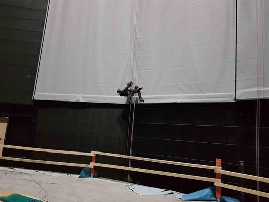 Aufstieg mit der ActSafe Seilwinde zum Anschlagpunkt in 60m Höhe