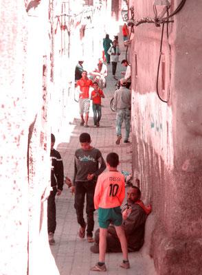 Dahinter - Ort: Marrakesch/Marokko