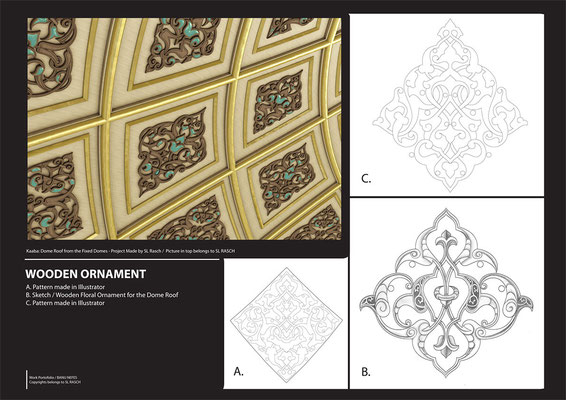 Sketching Pattern for Dome - Mekka Mosque / Company Work