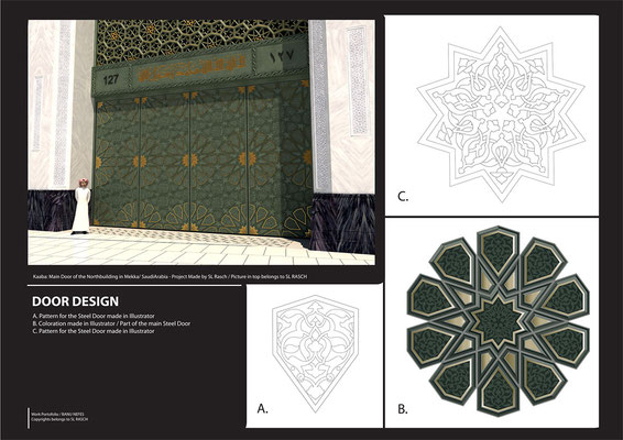 coloring Vector Graphics with Adobe Illustrator - Mekka Mosque / Company Work