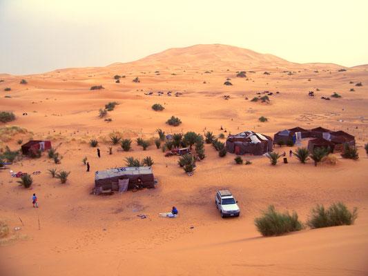 Sandburg - Ort: Sahara Desert/Merzouga/Marokko