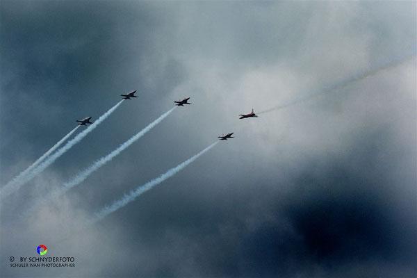 Fotos/Impressionen der Patrouille Suisse, anlässlich der 700 Jahr Feier Schlacht am Morgarten.