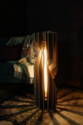 lamellen lampe aus holz