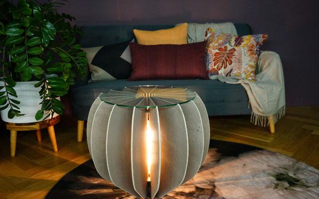 Beistelltisch Ovale mit Licht