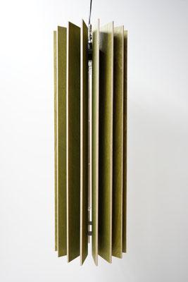 Holz Hängelampe grün