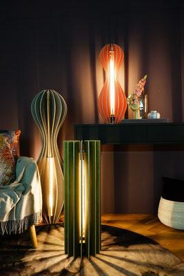 holzlamellen lampen