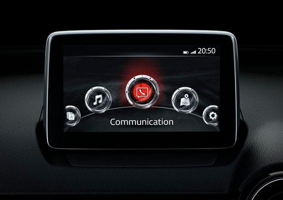 新型「デミオ」Mazda Connect(日本仕様車)