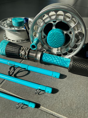 CTS Affinity X 7wt 9ft 4piece satin teal