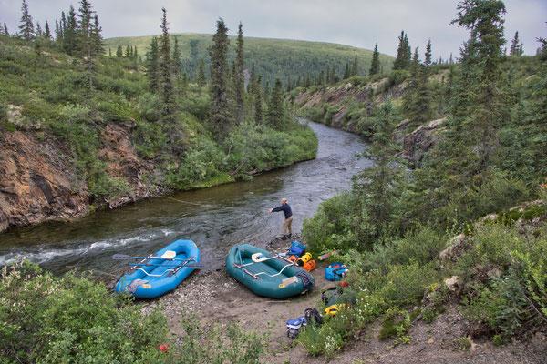 Stefans erste Würfe am Salmon River