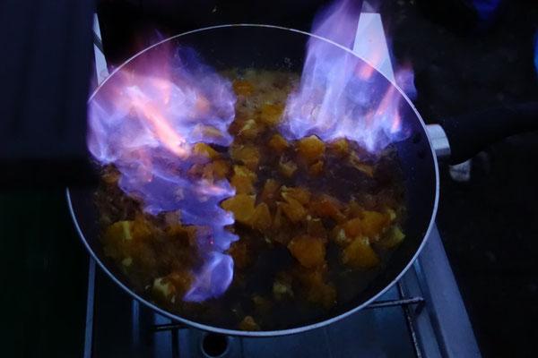 Orangen/Jägermeister Flambada