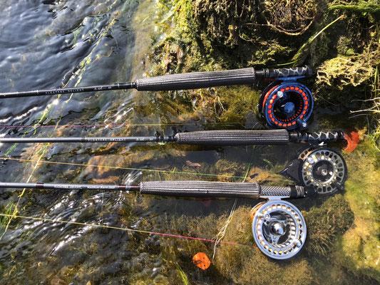 Trio Infernale: Die v-stick nano Blanks sind einfach perfekt für diese Fischerei!