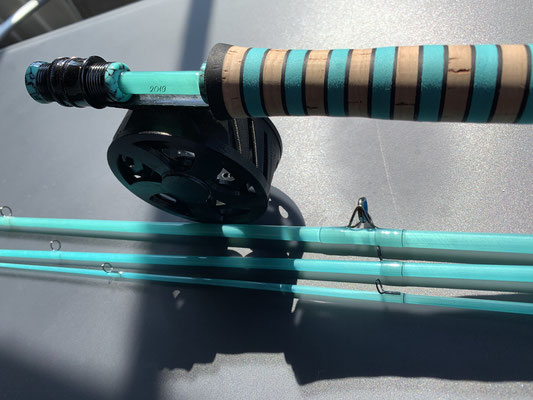 Super Glass Series #3 7ft teal