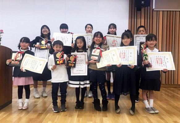 「墨 兵庫オープン展 2019」表彰式風景2 おめでとうございます!