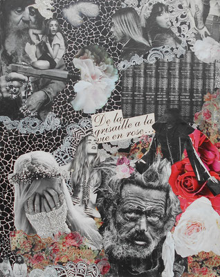 collage de la grisaille à la vie en rose