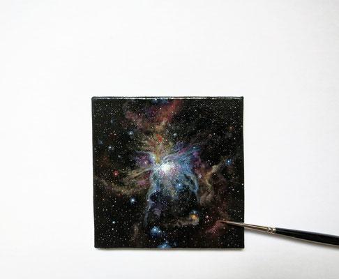 Retrato de nebulosa, oil 7,8x7,8 cm