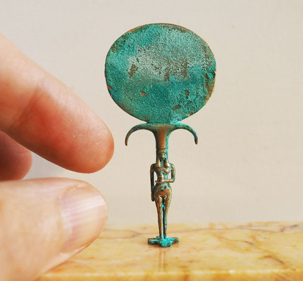 Egyptian mirror made of real bronze