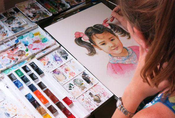 Watercolour portrait