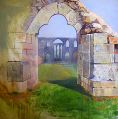 Abbey, acrylic 1x1 m