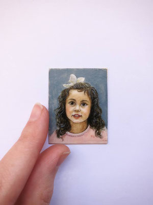 Portrait 2017 watercolor on synthetic ivory