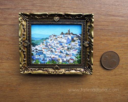 Alcalá de los Gazules (Cádiz), óleo 4,8x5,8 cm