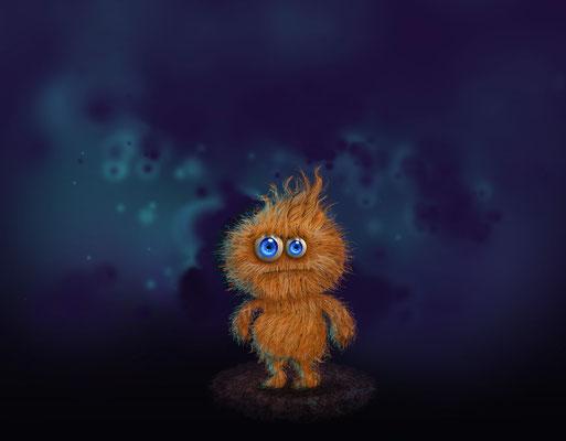 """Panocho"" Digital painting character design following this tutorial: https://design.tutsplus.com/tutorials/furry-cartoon-character--psd-18407"