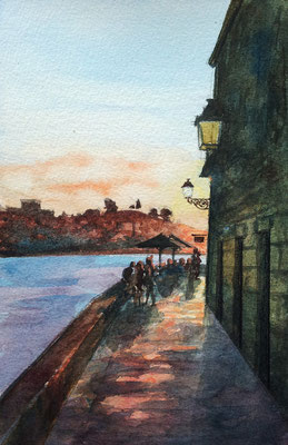 Porto, watercolor postcard size 10x15cm