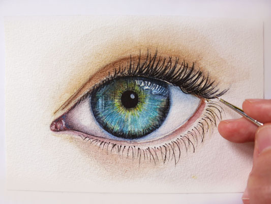 Eye, watercolour 10x15cm