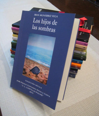"Watercolor cover of the novel ""Los hijos de las sombras"""