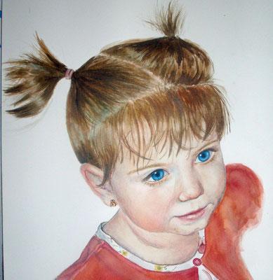 Watercolor portrait 21x31cm