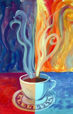 Cofee time, gouache