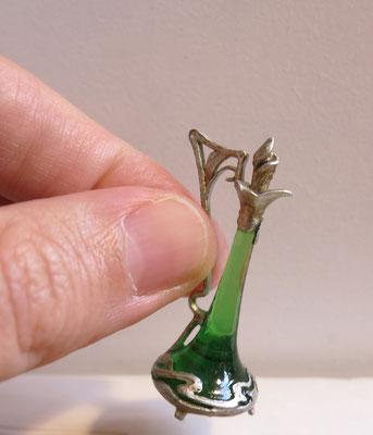Miniature absinthe bottle 1:12 scale, size 4x2cm