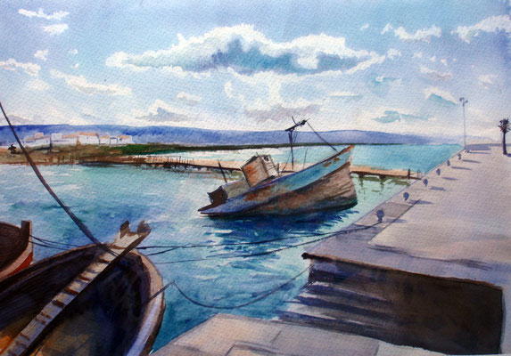 Barbate, watercolor