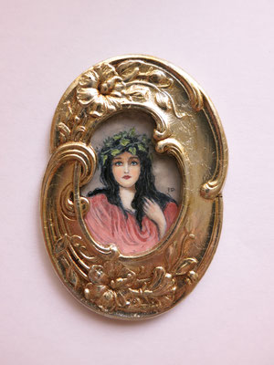 watercolor portrait art nouveau