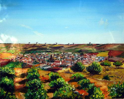 Mota del Cuervo, oil on canvas