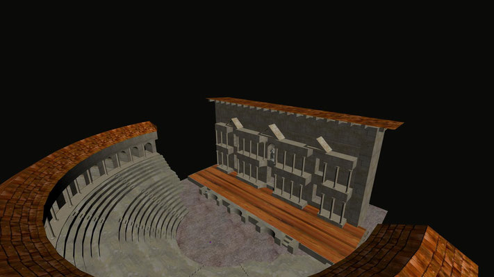 "Virtual restoration of ancient roman Theatre in Ronda""Teatro de Acinipo"""