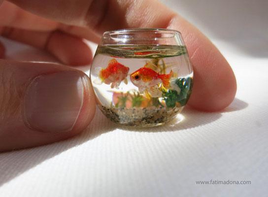 Miniature fish bowl