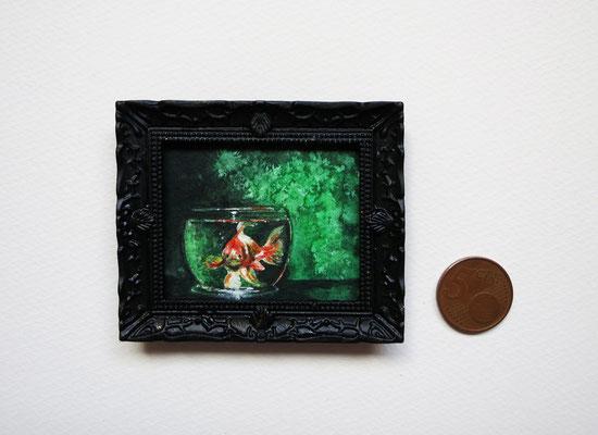 Pez de Amélie, acuarela 4,8x5,8 cm