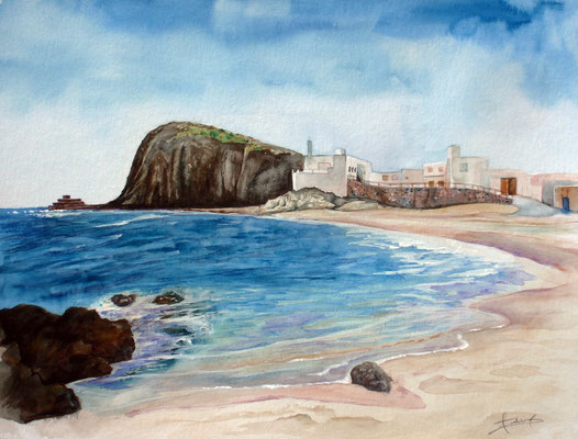 Isleta del Moro, watercolor