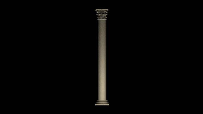 "3D column virtual restoration of ancient roman Theatre in Ronda""Teatro de Acinipo"""