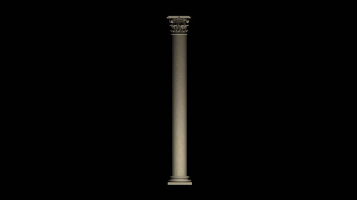 "3D column virtual restoration of ancient roman Theatre in Ronda""Teatro de Acinipo"""
